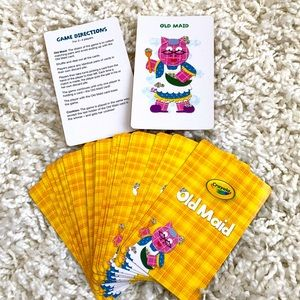 Old Maid Kid Card Game Crayola